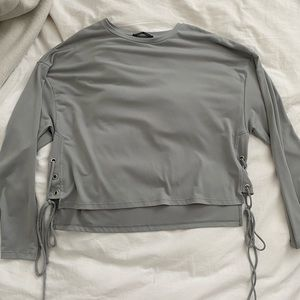 Grey Zara long sleeve blouse, size small